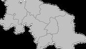 Landkarte des Beziks mit den jeweiligen Regionen